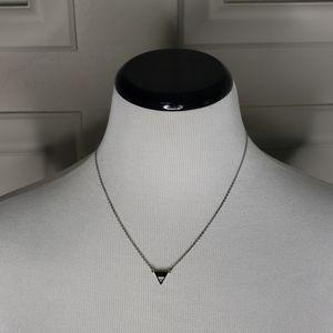 Tiny jeweled triangle necklace